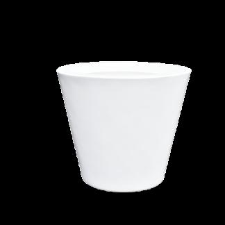 witte bloembak in polyester
